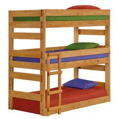 Chelsea Home Twin Triple Bunk Bed | Wayfair