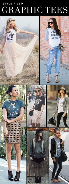 7 Different Ways to Wear a Graphic Tee-love all of these!