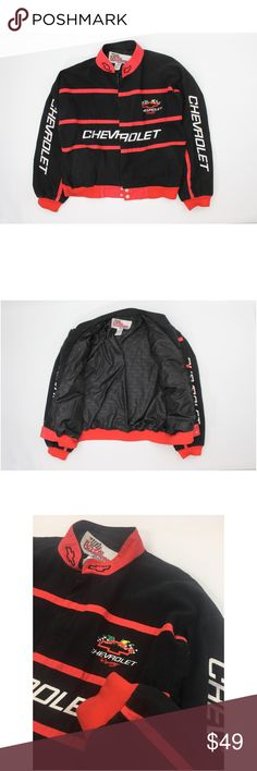 144133a0390 Racing Champions Nascar Chevrolet Racing Jacket Racing Champions Men s Red  Black Nascar Chevrolet Racing Jacket Size