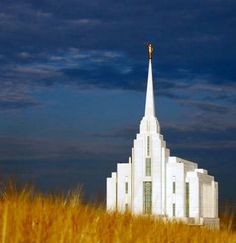 The Rexburg, Idaho LDS Temple. (Plus notice how gorgeous that dark blue is against the golden wheat!)