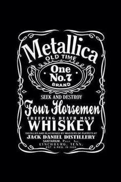 Metallica - Jack Daniels thats pretty cool ; Rock And Roll, Pop Rock, Hard Rock, Heavy Metal, James Hetfield, Great Bands, Cool Bands, Music Rock, Robert Trujillo