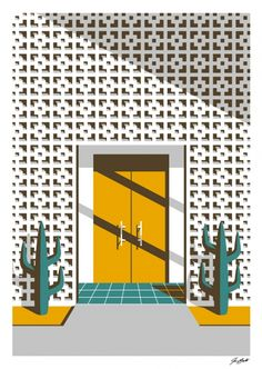 Through the Yellow Door by Jeremy Booth  giclee print available