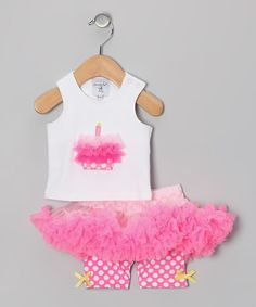 Take a look at this Pink Cupcake Tank & Pettiskirt - Infant by Mud Pie on #zulily today!