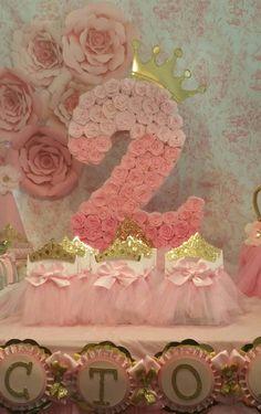 Número de una piñata piñata oro y rosa por HeidiPartyCreations