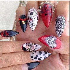 one of my fave sets. Funky Nail Art, Crazy Nail Art, Funky Nails, Crazy Nails, Disney Nail Designs, Creative Nail Designs, Colorful Nail Designs, Beautiful Nail Designs, Hot Nails