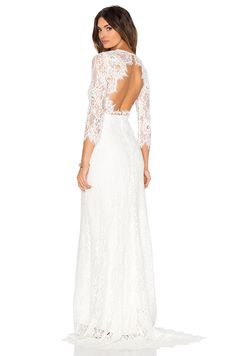 Alexis Akira Lace Gown in White