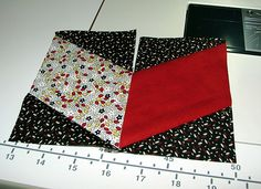 As mentioned in my post, I found a quilt pattern on the web by Rebecca McCreary called Y-Not Tumbling Blocks. She developed a cutting technique that allows you to piece tumbling blocks without Y-s...