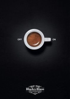 "Empowered Coffee Ads; also a visual-verbal connection well exemplified. It literally depicts coffee as an ""on"" switch, and since we often do surveys and coverage having to do with the chronic coffee addiction that plagues most McLean students, we could use a visual graphic like this one as a clever, entertaining part of a coffee-related mod. Grace V"