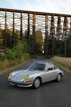 early Porsche 911 with metal roof rack