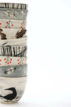Blackbird pottery by April Gates Haliburton, Ontario LOVE IT Ceramic Clay, Ceramic Bowls, Ceramic Pottery, Pottery Art, Pottery Bowls, Ceramic Painting, Earthenware, Stoneware, Cerámica Ideas