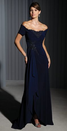 Alyce Paris Design - Beautiful Slate Grey Jewel Encrusted Evening ...