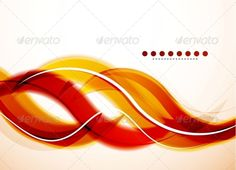Modern Detailed Abstract Background: Orange Waves