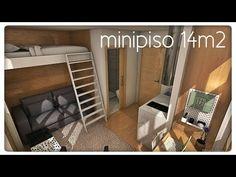 minipiso 14m2 / 151ft2 (¿Dónde está el armario?)