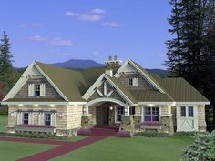 House Plan 42652 - Craftsman Style House Plan with 1971 Sq Ft, 3 Bed, 3 Bath, 2 Car Garage