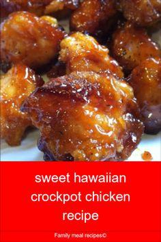 sweet hawaiian crockpot chicken recipe - Family meal recipes - New Ideas Chicken Tenders Crockpot, Sweet Hawaiian Crockpot Chicken Recipe, Chicken Tender Recipes, Chicken Wing Recipes, Recipe Chicken, Quick Crockpot Meals, Superbowl Crockpot Recipes, Crockpot Chicken Meals, Cooked Chicken