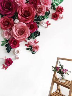 Papel Arramgement florales de flor fondo  arco de la flor de