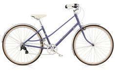 I just yelped! This bike! This gorgeous lavender bike! I WANT IT!  Electra Ticino