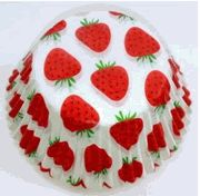 Strawberry Cupcake Liner Standard size $5.25 for 50