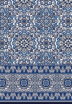Moroccan Tile Border Print - Sophia Baker click now for more. Tile Patterns, Pattern Art, Textures Patterns, Print Patterns, Moroccan Tiles, Moroccan Decor, Moroccan Print, Moroccan Bedroom, Moroccan Blue