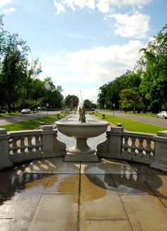 Bayonne, NJ : fountain in the park bayonne