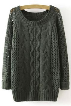 SHARE & Get it FREE   Stylish Round Collar Long Sleeves Solid Color Hollow Out Twist Braided Women's Pullover SweaterFor Fashion Lovers only:80,000+ Items • New Arrivals Daily • Affordable Casual to Chic for Every Occasion Join Sammydress: Get YOUR $50 NOW!