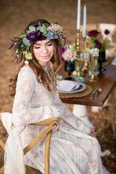 Pretty Boho Wedding Inspiration | KMH Photography | Paulina Clute Events | Bridal Musings Wedding Blog 28