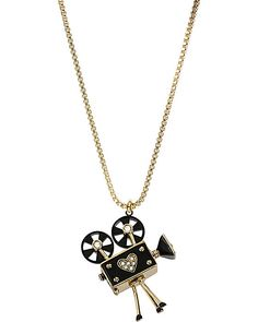 VINTAGE CAMERA NECKLACE MULTI accessories jewelry necklaces fashion by Betsey Johnson