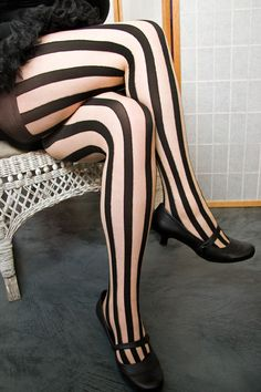 Socks by Sock Dreams » Socks Special Collections » Plus Sized » Sheer Vertical Stripe Pantyhose
