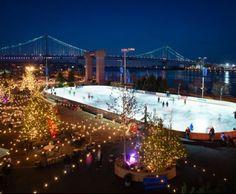 Blue Cross RiverRink - Philadelphia, PA  #Yuggler #KidsActivities #IceSkating