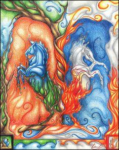 The Elements by AlexLibby on DeviantArt 4 Element, Elements Of Nature, Fantasy Artwork, Creatures, Deviantart, Artist, Artworks, Painting, Artists