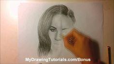New speed portrait drawing of Megan Fox - http://www.youtube.com/watch?v=FI66nt6yATU  More at http://mydrawingtutorials.com/