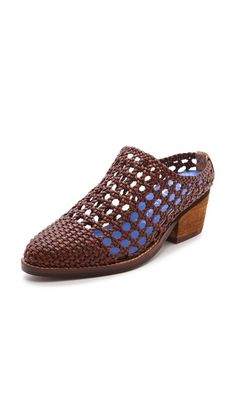 Jeffrey Campbell Armadillo Woven Mules   Purchased these beauties today