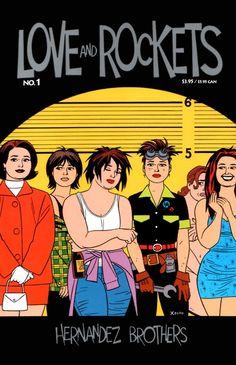 Maggies. Love & Rockets cover by Jaime Hernandez.