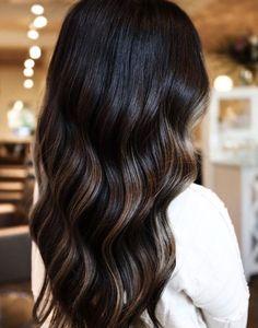 Ash Brown Hair Balayage, Black Hair With Brown Highlights, Mocha Brown Hair, Dark Chocolate Brown Hair, Mocha Hair, Black Brown Hair, Ash Brown Hair Color, Hair Highlights, Lowlights For Black Hair