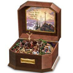 """Thomas Kinkade """"Visions Of Christ"""" Wooden Music Box by The Bradford Exchange Bradford Exchange http://www.amazon.com/dp/B004XJH6SI/ref=cm_sw_r_pi_dp_0wxsub1RM2APV"""