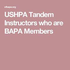 USHPA Tandem Instructors who are BAPA Members