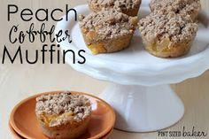 Pint Sized Baker: Peach Cobbler Muffins