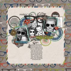 Hey Mister collab kit by Traci Reed and Jenn Barrrette.  Layout by Niki - alahnasmommy
