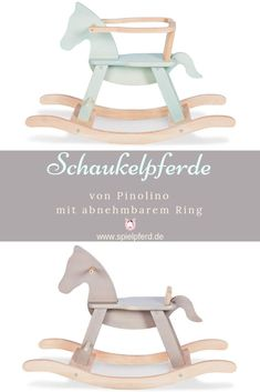 Schaukelpferd-Klassiker in tollen Farben The wooden rocking horse classic Pinolino is also available Wooden Baby Toys, Wood Toys, Toys For Girls, Kids Toys, Baby Nursery Diy, Tattoo Project, Diy Tattoo, Kidsroom, Kids Furniture