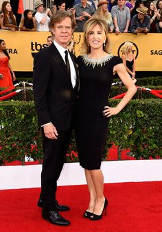 William H. Macy and Felicity Huffman attend the 21st Annual Screen Actors Guild Awards at The Shrine Auditorium on January 25, 2015 in Los Angeles, California.