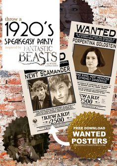 Throw a speakeasy party inspired by The Blind Pig in Fantastic Beasts & Where To Find Them Harry Potter Theme, Harry Potter Birthday, Harry Potter World, Harry Potter Diy, Roaring 20s Party, 1920s Party, Gatsby Party, 1920s Speakeasy, Speakeasy Party