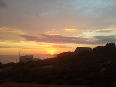 Beautiful sunset over the ocean at Eden Guesthouse B&B