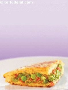 Potato Handvo ( Non- Fried Snacks ) recipe   Indian Non Fried Recipes, Farsan Recipes   by Tarla Dalal   Tarladalal.com   #33310