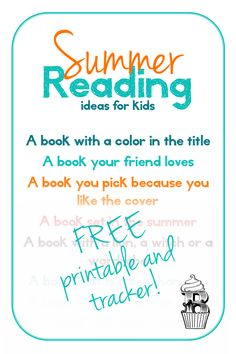 Summer Reading Ideas Printable
