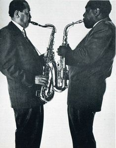 Lester Young & Charle Parker    by Irving Penn