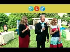 Kari Byron and Bill Nye interview young innovators at the 2014 White House Science Fair, May Kari Byron, Bill Nye, Political Events, Science Fair, Global Warming, Politics, Live, House, Home