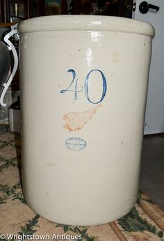 Antique RED WING STONEWARE CO 40 Gallon CROCK Excellent Condition ESTATE!!!!!!!! #REDWINGSTONEWARE