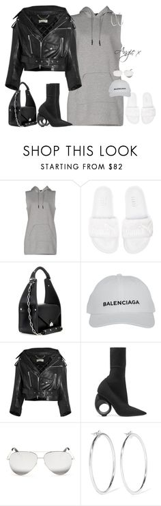 """Untitled #738"" by stylzbyang ❤ liked on Polyvore featuring T By Alexander Wang, Puma, Balenciaga, Burberry, Victoria Beckham and Jennifer Fisher"