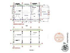 План Зеленой Дубовой Рамке Показано Строительство Сарая