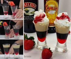 strawberry baileys kahlua shots